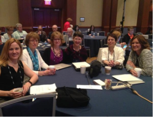 Members of the 2015 Maine team: Dr. Holly Couturier (Assistant Executive Director of Maine Principals' Association), Sandra MacArthur (Director of Educational Outreach, UMF), Jennifer Dorman (2015 MTOY), Anita Bernhardt (MDOE Coordinator for Standards and Instruction), Mary Paine (MDOE Educator Effectiveness Coordinator), and Kim Buckheit (Principal and 2013 Middle Level Principal of the Year).